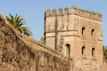 Seville, detail of the ancient city walls built during Almohad period to protect the town  Stock Photo - 14820509