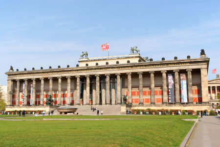 neoclassic: Berlin, Germany - April 17, 2009: The Altes Museum on Museum Island is a neoclassic building by architect Schinkel. It was built in 1830 for the art collection of the royal Hohenzollerns. Nowadays the museum hosts Etruscan, Greek and Roman pottery and scu