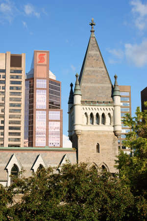 Montreal, Canada - July 28, 2008: Morrice Hall in downtown Montreal. This building in gothic style was originally the Presbiterian College of Montreal, then it was donated to McGill University and became the Islamic Studies Library of the Campus. Stock Photo - 18017544