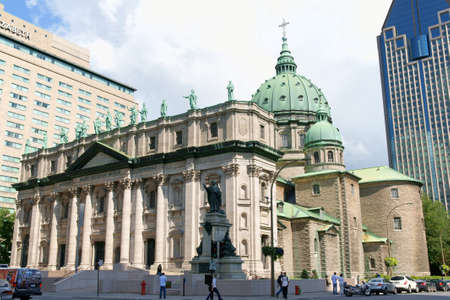 Montreal, Canada - August 10, 2008: Mary Queen of the World Cathedral (Cathedrale Basilique Marie Reine du Monde) in Montreal, Quebec, Canada. This church was built between 1875 and 1894. Stock Photo - 18017563