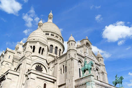 consecrated: The Basilica of the Sacred Heart  Basilique du Sacre-Coeur  was built between 1873 and 1914 and consecrated in 1919 on Montmartre hill, Paris, France