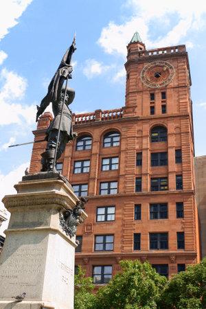 founder: Maisonneuve monument built in 1895 in memory of Montreal founder Paul Chomedey de Maisonneuve