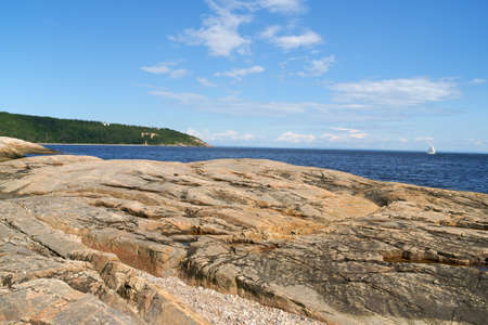 lawrence: Saint Lawrence River near Tadoussac on a summer day in Quebec, Canada