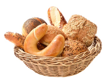 variety of bread rolls in basket