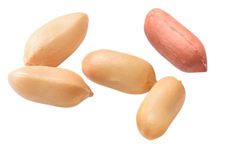 single peeled peanuts