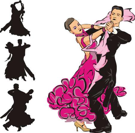 couple dancing: bailes de sal�n