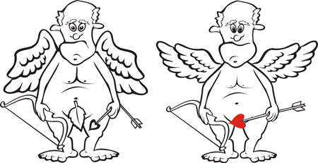fart: Cupid - zwarte & wit