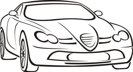 motorization: expensive car Illustration