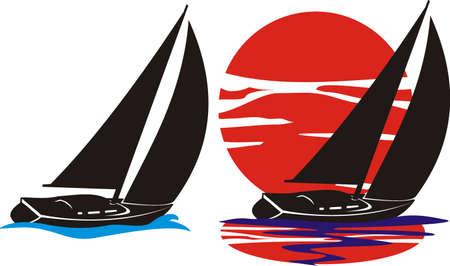 barca a vela: silhouette yacht - a vela