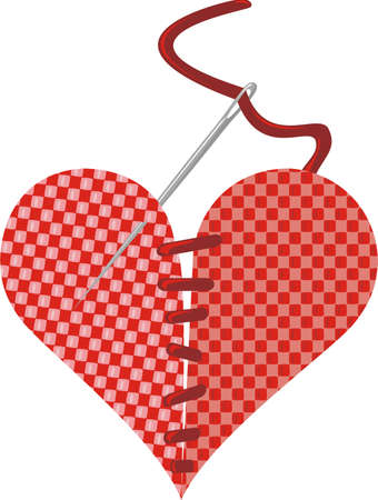 we couldn`t part - stitch heart