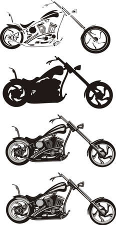 motorcycle rider: motorcycle - chopper