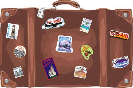 packing suitcase: Valigia - in viaggio