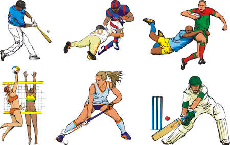 sports team figures - outdoor Vector