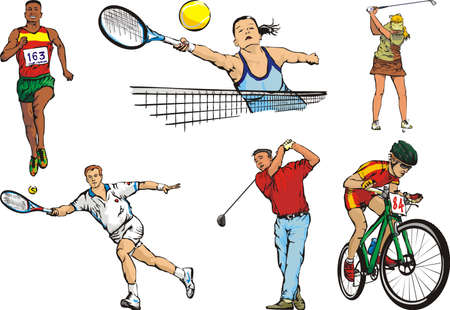 individual sports: sports figures - individual - outdoor