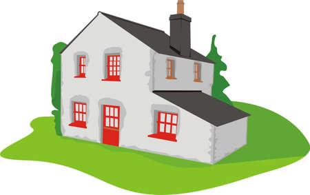 cottage - landed estate Stock Vector - 8852664