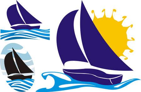 yacht club: yachting logo Illustration