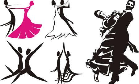 dance: logotipo de danza 2 Vectores