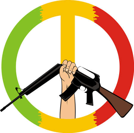 under the banner of peace Vector