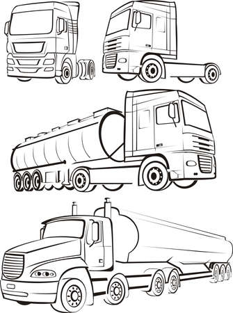 autobotte: TIR, camion, autocarro - silhouette