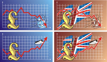 foreign exchange rates - pound Vector
