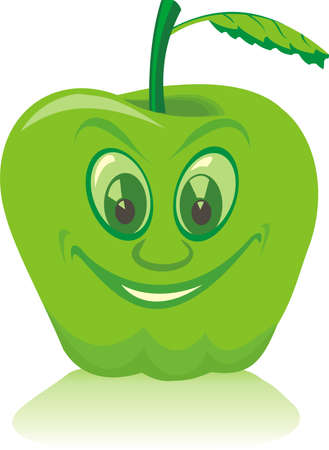 fruitful: green apple Illustration