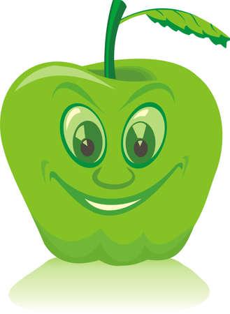 fruitage: green apple Illustration