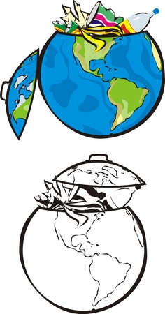 environmental contamination: earth`s dumpster -  western hemisphere
