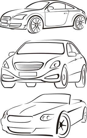 cars silhouettes Illustration