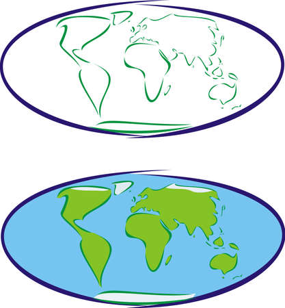 earth`s map Stock Vector - 9037287