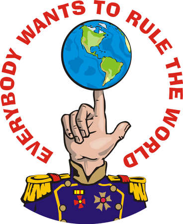 everybody wants to rule the world Stock Vector - 9037294