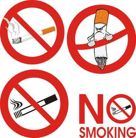 no smoking - sign Stock Vector - 9139072