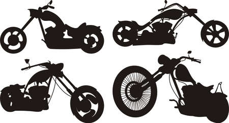easy: motorcycle silhouette