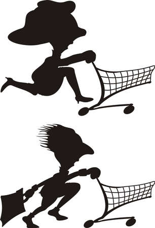 frugality: customers silhouette