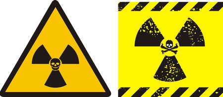 radiation - sign Stock Vector - 9214337