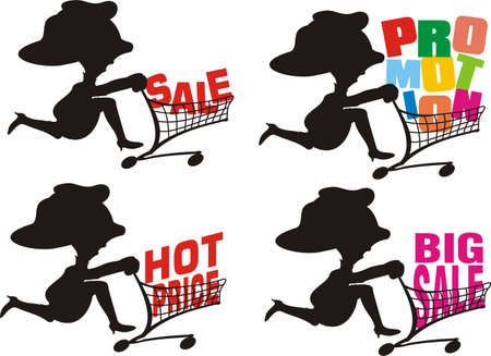 quick money: big sale -  a shopping expedition Illustration