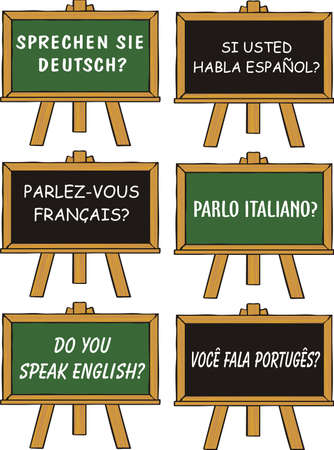 school of foreign languages Illustration