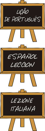 foreign: foreign language course Illustration