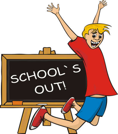 on end: school`s out - jump for joy Illustration