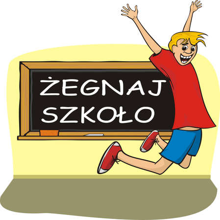 school`s out - in polish Vector