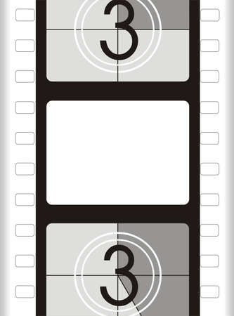 movie screen: film frame, from the start - movie background
