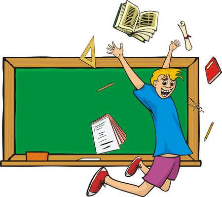 merrily: la scuola `s out - studente felice