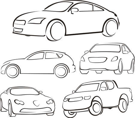 auto: cars silhouettes Illustration
