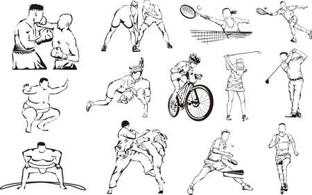 sumo: sports icons - individual Illustration
