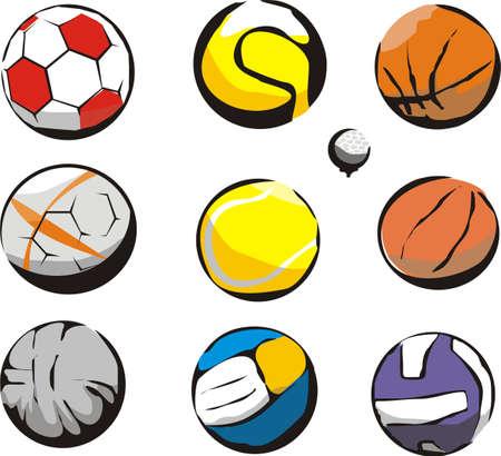 ball sports - indoor or outdoor Vector