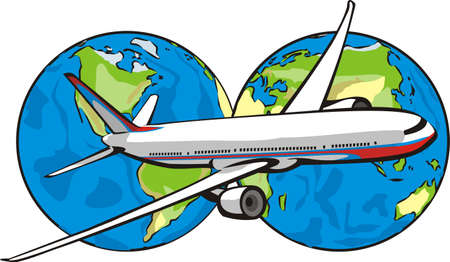fly around the world Stock Vector - 9716802
