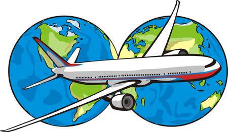 reiziger: vliegen rond de wereld