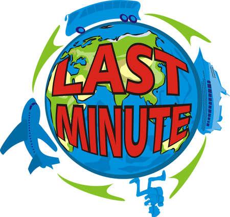 travel agency: last minute - holiday Illustration