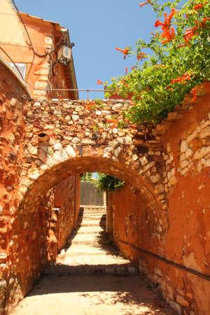 roussillon: street in Roussillon
