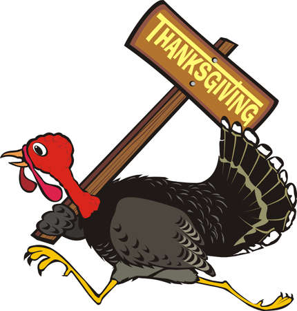 runaway turkey - thanksgiving day Stock Vector - 10251736