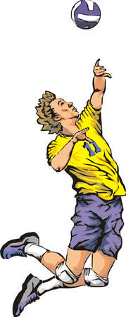 spikes: Voleibol - servir el bal�n